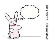 cartoon pink rabbit | Shutterstock .eps vector #222325186