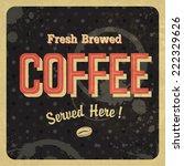 coffee vintage poster. vector | Shutterstock .eps vector #222329626