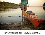 kayaking with new kayaks at...   Shutterstock . vector #222333952