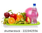 fitness equipment and healthy... | Shutterstock . vector #222342556