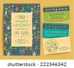 design set with yogic quotes... | Shutterstock .eps vector #222346342