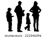 families people with little... | Shutterstock . vector #222346396