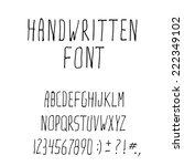 handwritten alphabet and... | Shutterstock .eps vector #222349102