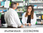 pharmacist and client in a... | Shutterstock . vector #222362446