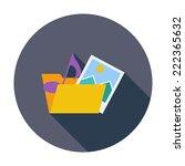 folder. single flat color icon.  | Shutterstock . vector #222365632