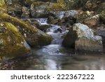 waterfall in autumn | Shutterstock . vector #222367222