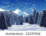snowy winter forest | Shutterstock . vector #22237036