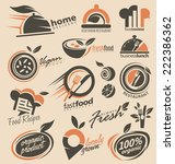 set of food icons  signs ... | Shutterstock .eps vector #222386362