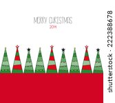 merry christmas card | Shutterstock .eps vector #222388678