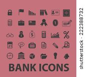 bank  money black icons  signs  ... | Shutterstock .eps vector #222388732