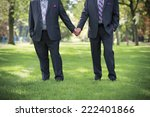 Stock photo image of two men holding hands at gay wedding 222401866