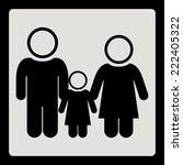 family design over white... | Shutterstock .eps vector #222405322