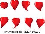 vector hearts | Shutterstock .eps vector #222410188
