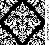 damask vector floral pattern... | Shutterstock .eps vector #222415126