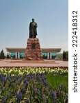 Small photo of ALMATY, KAZAKHSTAN - MAY 6, 2014: Monument of Abai Qunanbaiuli. Abai monument established in 1960 on the square �¢??�¢??Abay front of the Palace of the Republic in Almaty