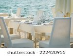 table set on the sea | Shutterstock . vector #222420955