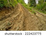 extreme off road 4x4 muddy way... | Shutterstock . vector #222423775