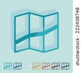 it is a flat design in modern... | Shutterstock . vector #222438748