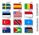 flags of world  flat vector... | Shutterstock .eps vector #222439255