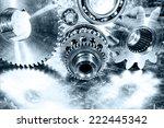 aerospace cogwheels  gears and...   Shutterstock . vector #222445342