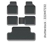 vector car mats | Shutterstock .eps vector #222447232