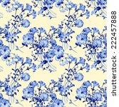 pattern petunias 4  | Shutterstock . vector #222457888