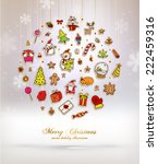 christmas set of icons  labels... | Shutterstock .eps vector #222459316