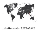 a map of the world with a... | Shutterstock .eps vector #222461572