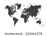 a map of the world with a... | Shutterstock .eps vector #222461578