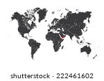 a map of the world with a... | Shutterstock .eps vector #222461602