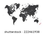 a map of the world with a... | Shutterstock .eps vector #222461938