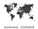a map of the world with a... | Shutterstock .eps vector #222462028