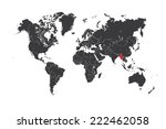 a map of the world with a... | Shutterstock .eps vector #222462058