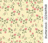 flowers seamless pattern | Shutterstock .eps vector #222464968