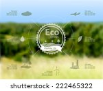 vector blurred landscape... | Shutterstock .eps vector #222465322