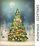 Christmas Scene  Snowfall...