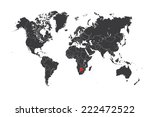 a map of the world with a... | Shutterstock . vector #222472522