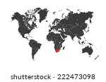 a map of the world with a... | Shutterstock . vector #222473098