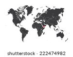 a map of the world with a... | Shutterstock . vector #222474982