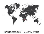 a map of the world with a... | Shutterstock . vector #222474985