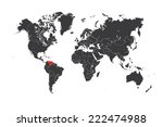a map of the world with a... | Shutterstock . vector #222474988
