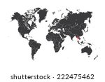 a map of the world with a... | Shutterstock . vector #222475462