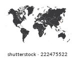 a map of the world with a... | Shutterstock . vector #222475522