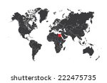 a map of the world with a... | Shutterstock . vector #222475735