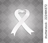awareness white ribbon   Shutterstock . vector #222484372