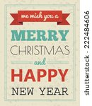christmas card with typography... | Shutterstock .eps vector #222484606