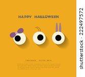 halloween background vector...   Shutterstock .eps vector #222497572