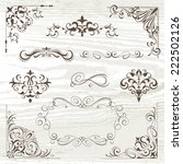 vintage frames and scroll... | Shutterstock .eps vector #222502126