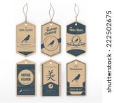 vintage clothing tag | Shutterstock .eps vector #222502675