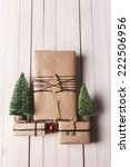 three small presents with xmas...   Shutterstock . vector #222506956